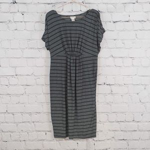 Motherhood Maternity grey striped dress
